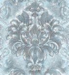 Blumarine Home Collection No. 2 Wallpaper Panel Sogno Barocco Azzurro Crystal BM25204 or 25204 By Emiliana For Colemans